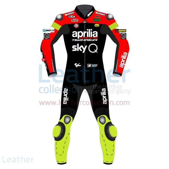 Andrea Iannone MotoGP 2019 Costume en Cuir Aprilia Vue de Face