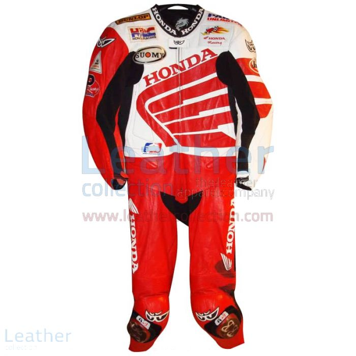Ben Bostrom American Honda 2004 AMA Leathers front view