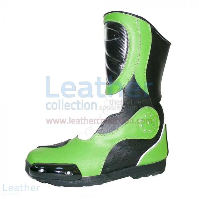 Bravo Green Leather Boots