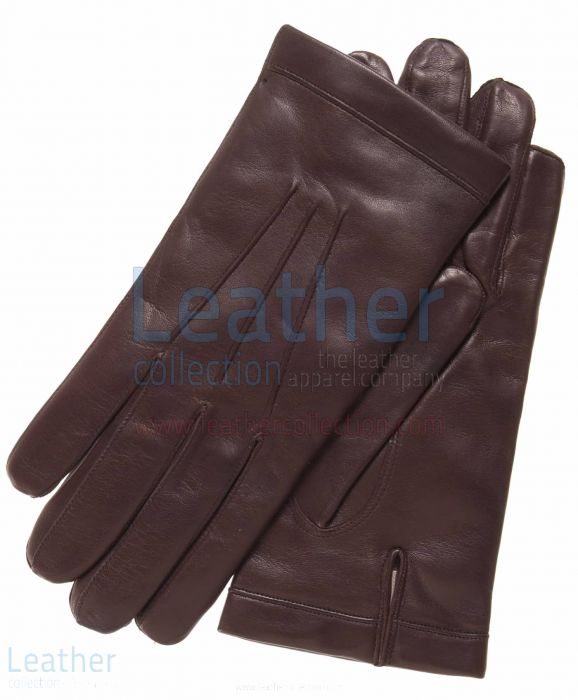 Classic Brown Cashmere Lined Fashion Gloves