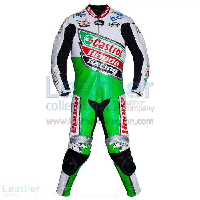 Colin Edwards Castrol Honda Leathers 2002 WSBK front view