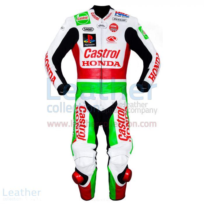 Daijiro Kato Castrol Honda GP 1999 Leather Suit front view