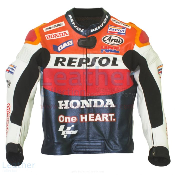 Dani Pedrosa 2012 Honda Repsol One Heart Race Jacket front view