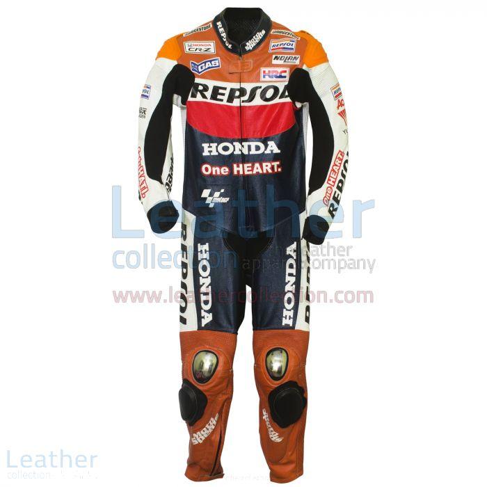 Dani Pedrosa 2012 Honda Repsol One Heart Race Suit front view