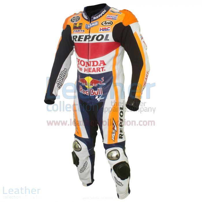 Dani Pedrosa Honda Repsol Cuirs MotoGP 2015 Vue de Cote