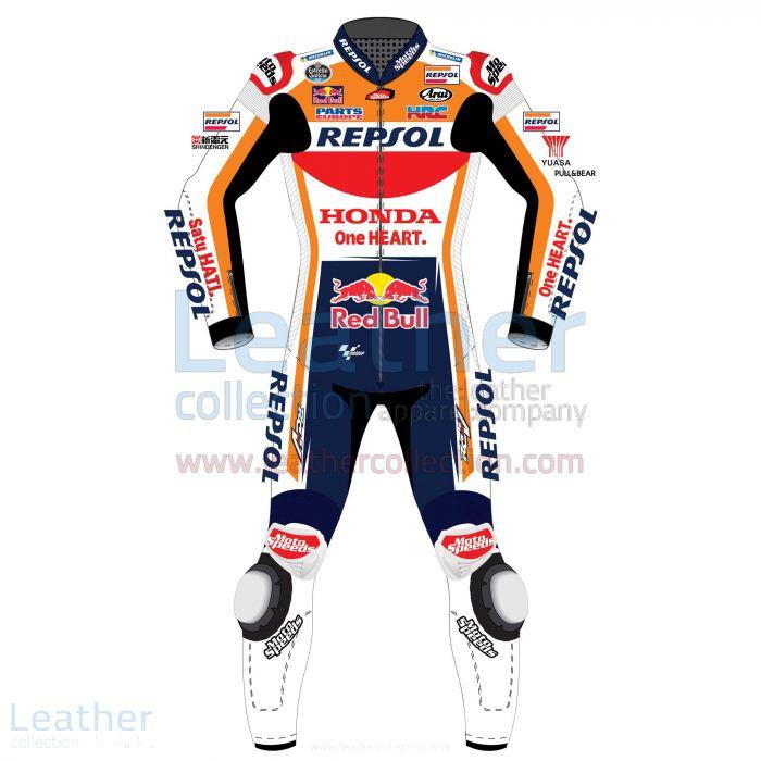 Dani Pedrosa HRC Honda Repsol MotoGP 2017 Race Suit front view