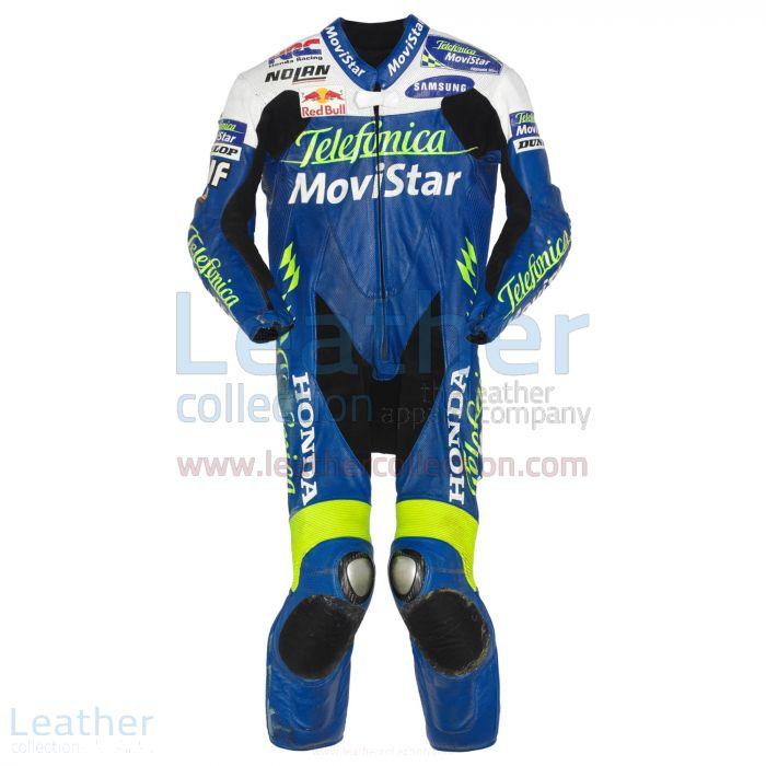 Dani Pedrosa Movistar Honda GP 2004 Leather Suit front view
