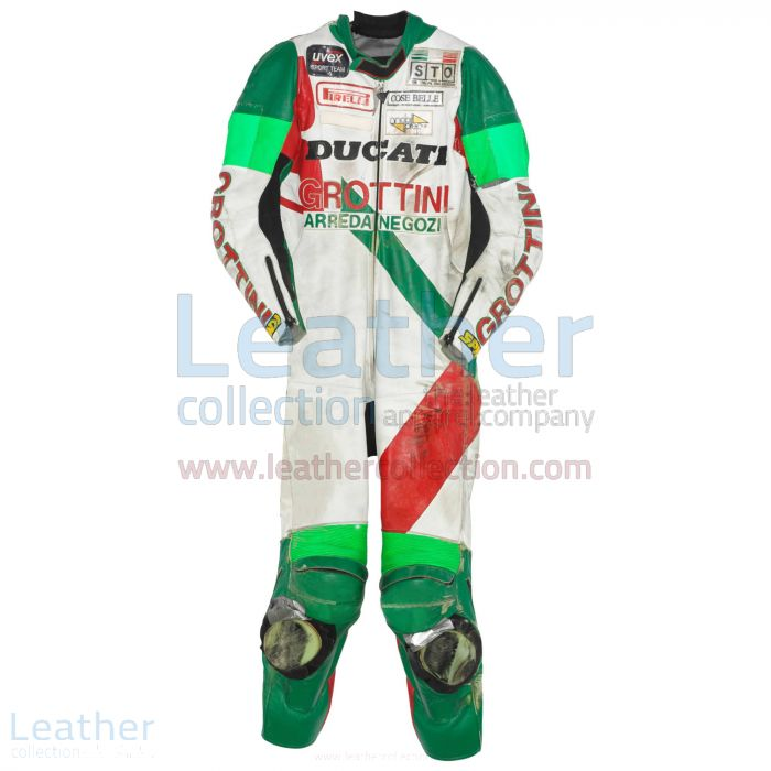 Davide Tardozzi Ducati ESB 1990 Race Suit front view
