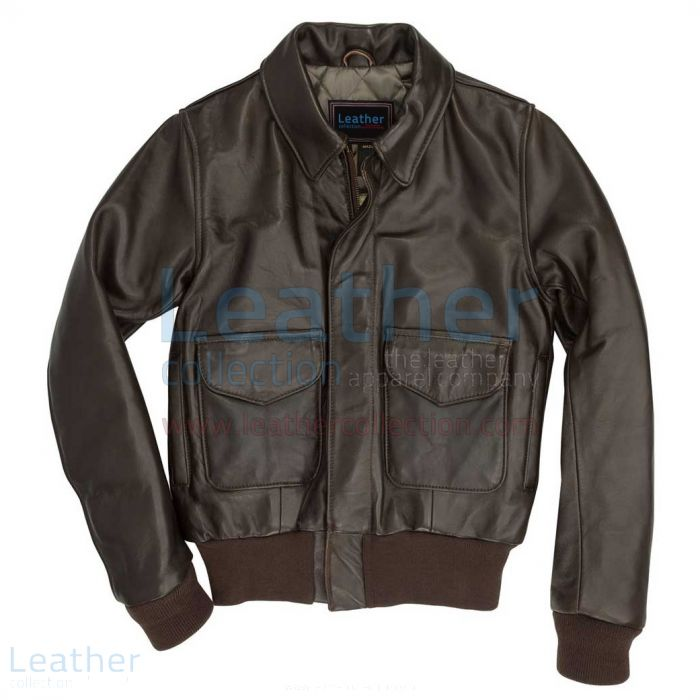 Flight Leather Bomber Jacket Womens front view