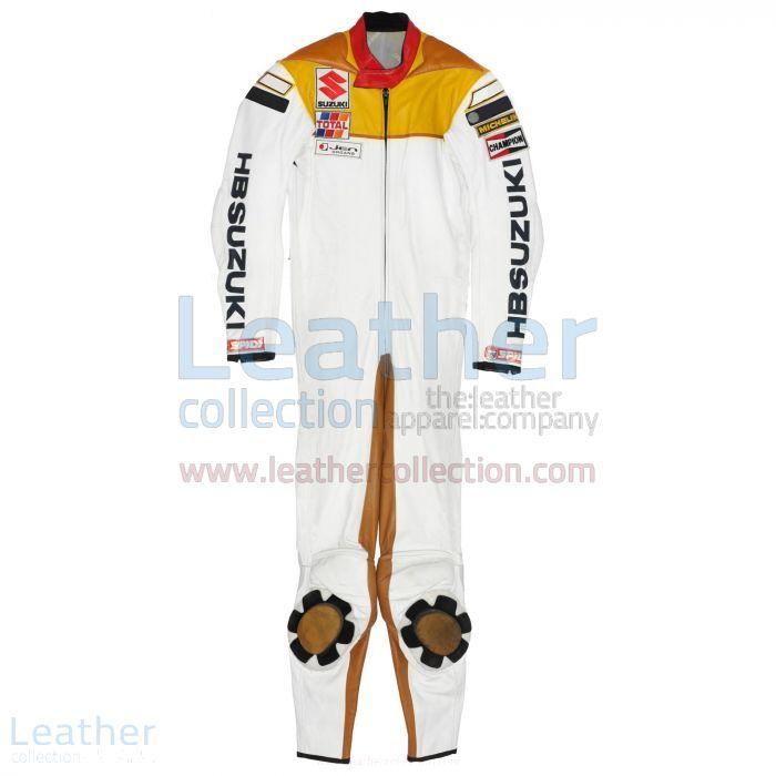 Franco Uncini Suzuki GP 1982 Leather Suit front view