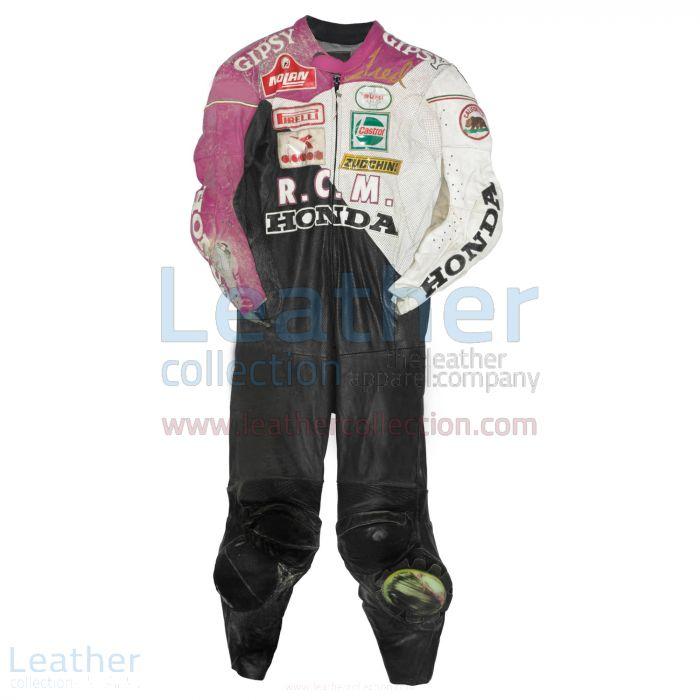 Fred Merkel Honda WSBK 1989 Leather Suit front view