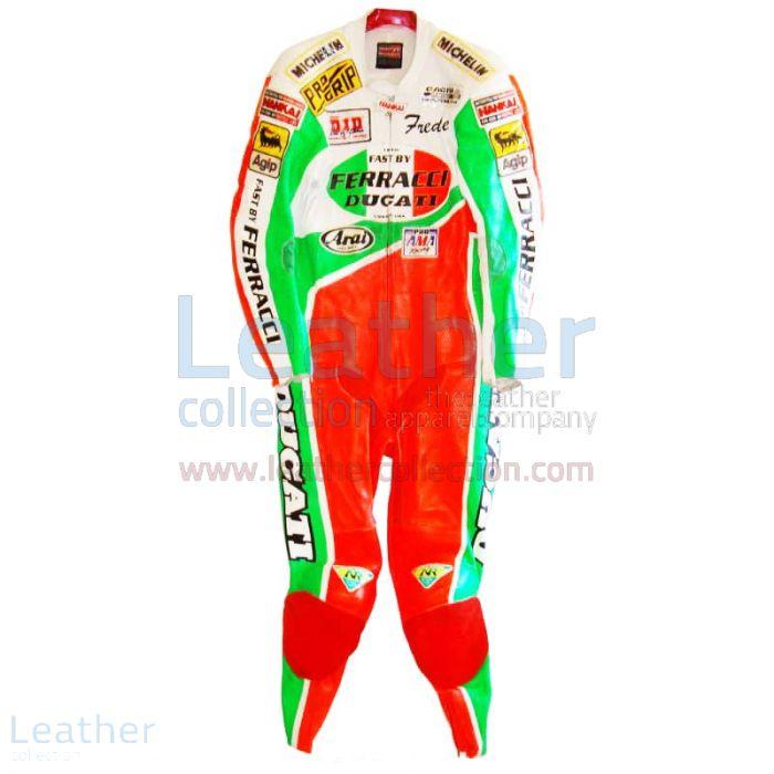 Freddie Spencer Ducati Corse AMA Cuirs Vue de Face