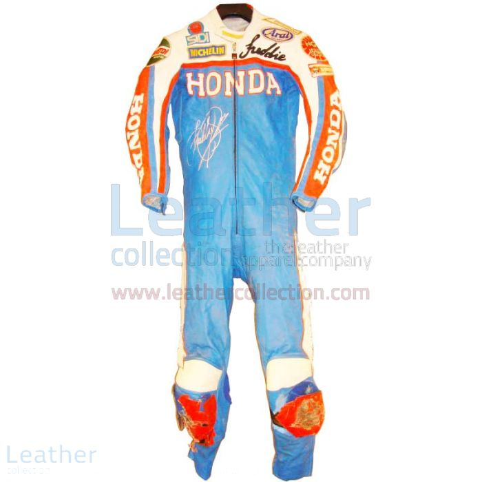 Freddie Spencer Honda GP 1983 Leather Suit front view