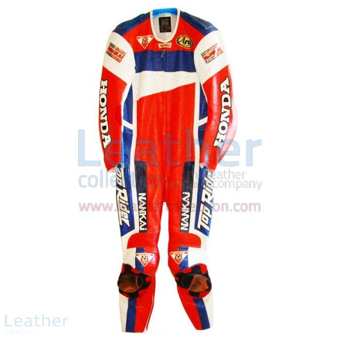 Freddie Spencer Nankai Honda Cuirs Moto GP 1991 Vue de Face