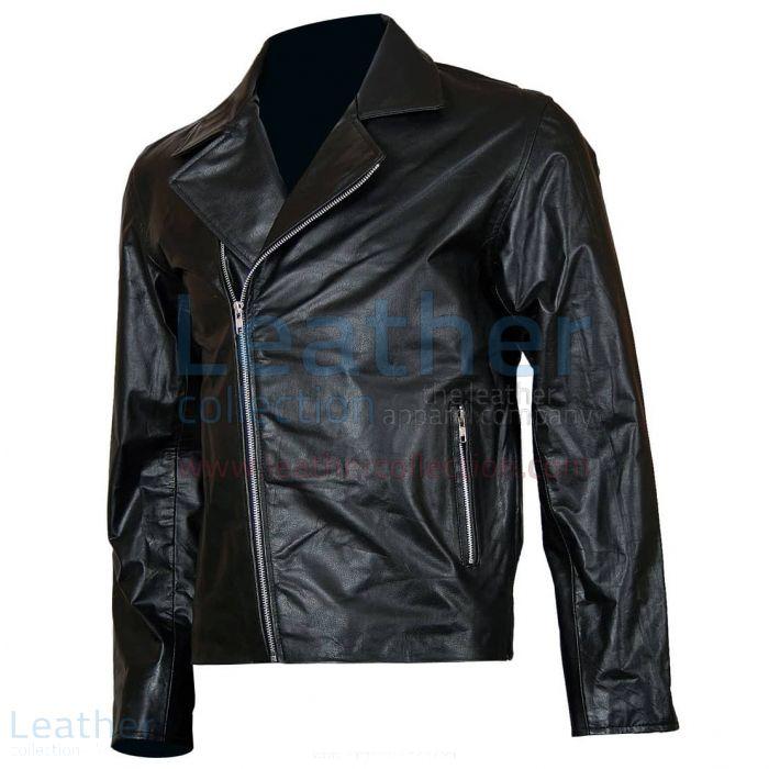 Ghost Rider Veste en Cuir Motard Vue de Face