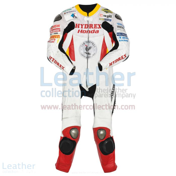 Guy Martin Honda Tourist Trophy 2009 Leathers front view