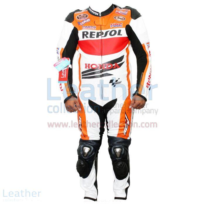 Dani Pedrosa Honda Repsol 2013 Cuirs Vue de Face