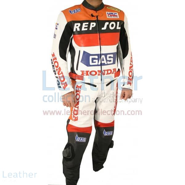 Honda Repsol Gas Leather Suit front view