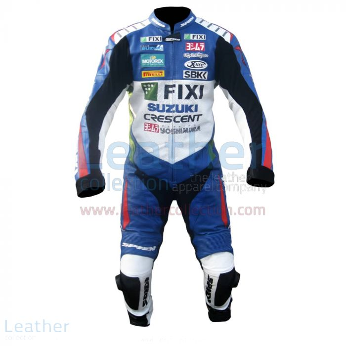John Hopkins 2012 Suzuki Racing Suit front view