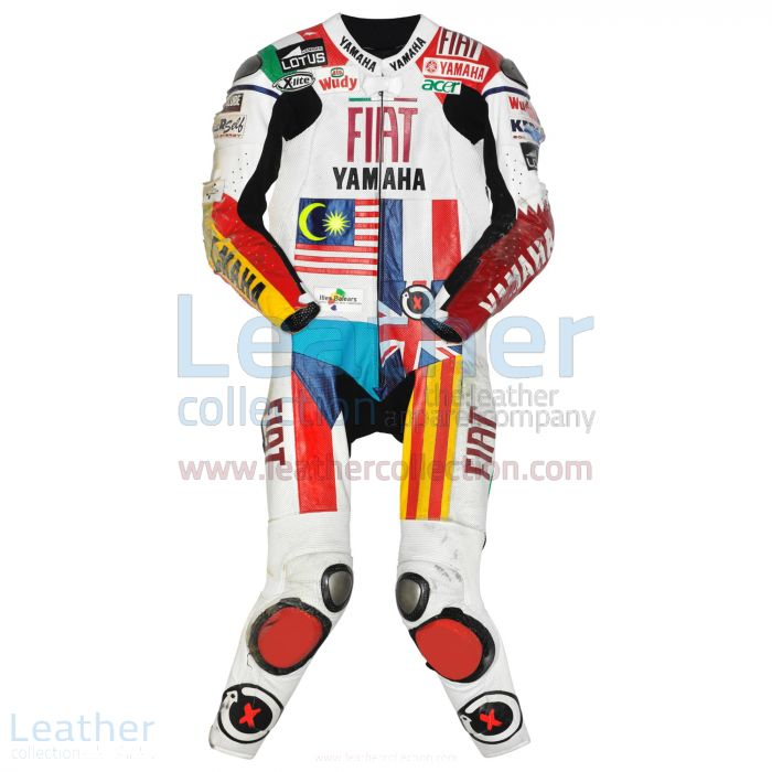 Jorge Lorenzo Yamaha MotoGP 2008 Leathers front view