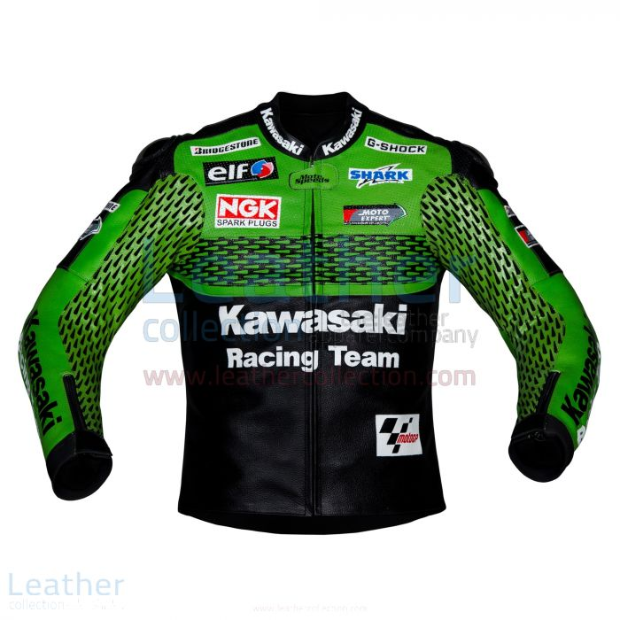 Kawasaki Racing Team Leather Jacket front view
