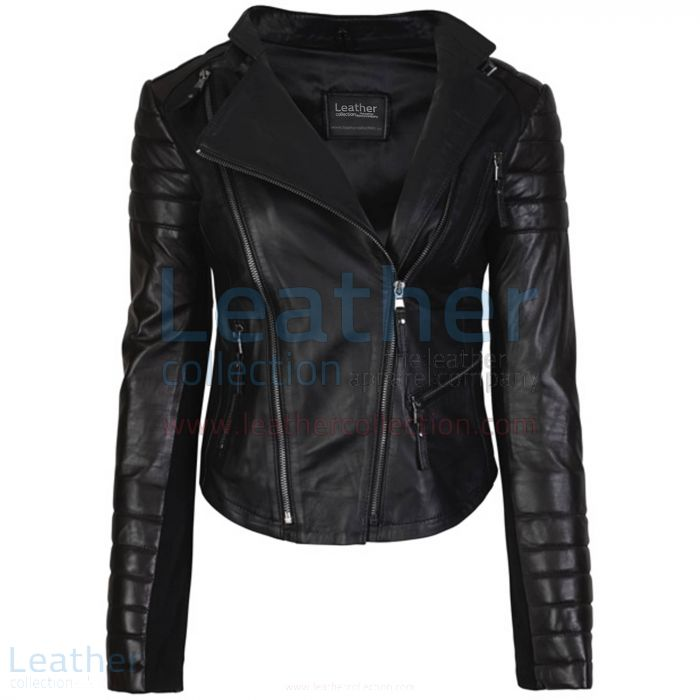 Kelly Fashion Leather Jackets For Ladies Black front