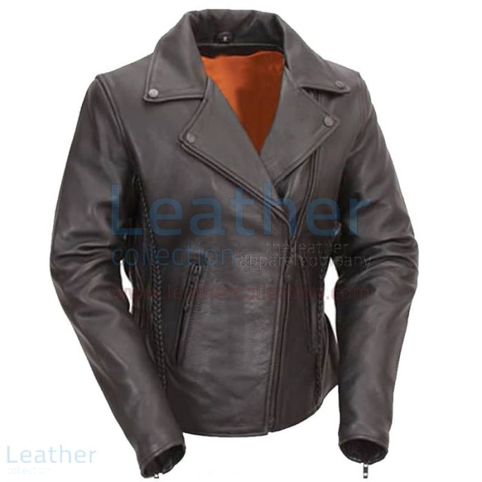 Hourglass Leather Ladies Biker Style Jacket front view