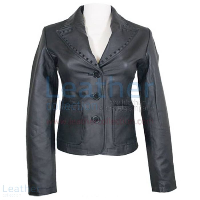 Ladies Fashion Coat Black front view