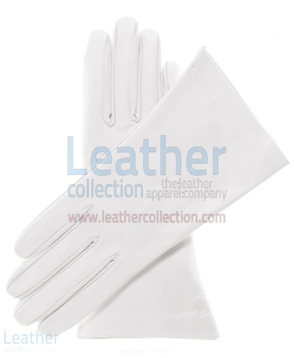 Ladies Natural Leather Gloves upper side
