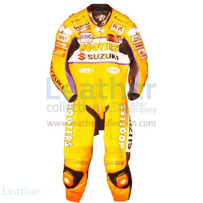 Larry Pegram Suzuki AMA Motorcycle Leathers front view