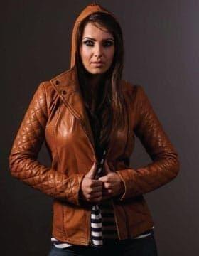 Chaquetas Mujeres - Capucha Cuero Chaqueta Para Mujer | Comprar En Leather Collection