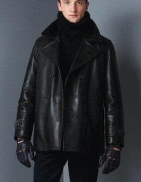 Coats För män - Our Leather Peacoats will keep you looking great in colder weather