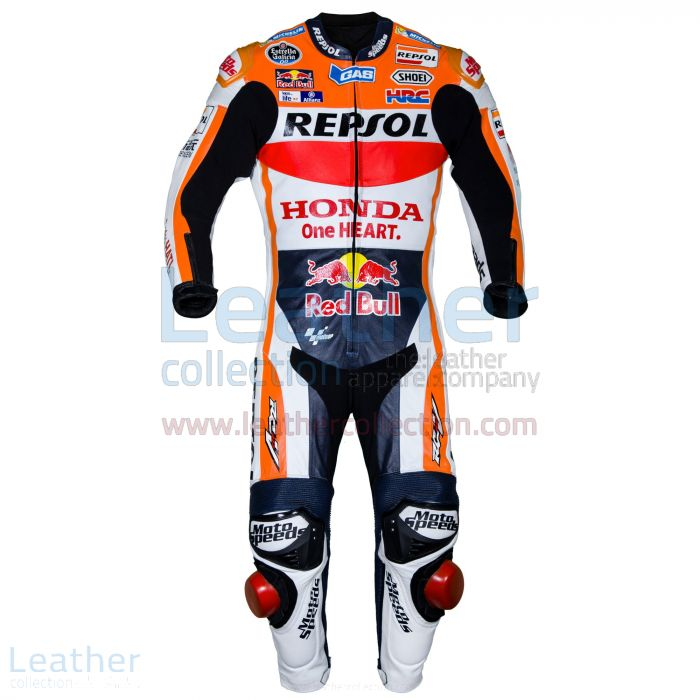 Marquez HRC Honda Repsol Costume MotoGP 2016 Vue de Face
