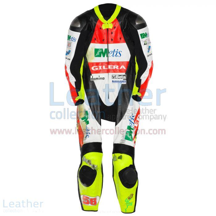 Marco Simoncelli Gilera Costume en Cuir GP 2007 Vue de Face