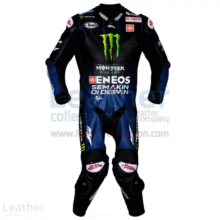 Maverick Vinales Yamaha Monster MotoGP 2019 Suit front view