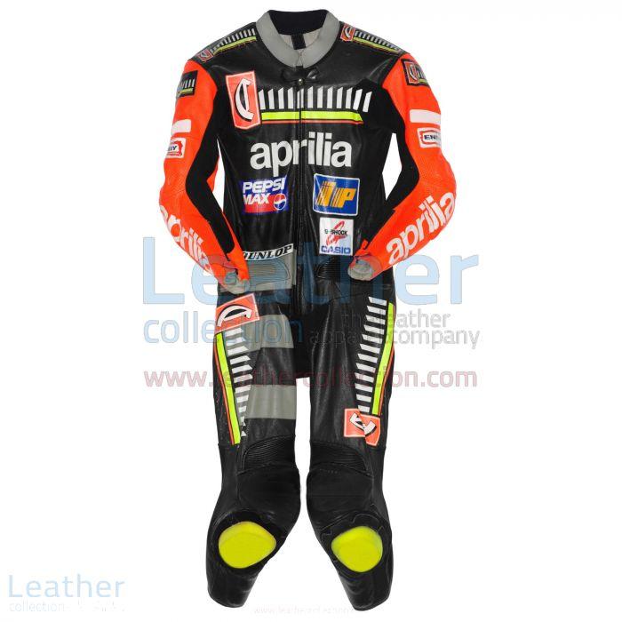 Max Biaggi Aprilia Cuirs GP 1996 Vue de Face