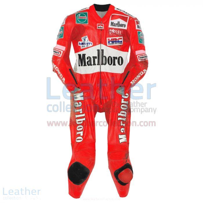 Max Biaggi Honda Cuirs de Course GP 1997 Vue de Face