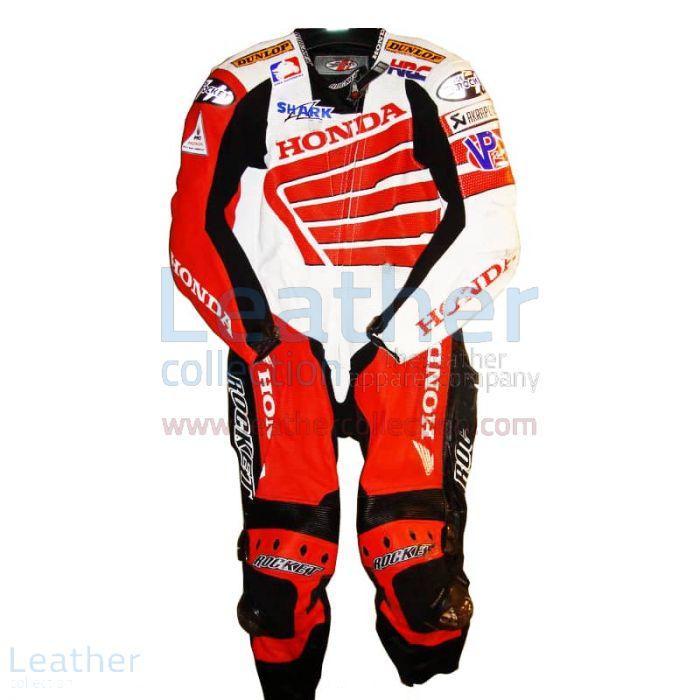 Miguel Duhamel Honda AMA 2008 Motorcycle Leathers front view