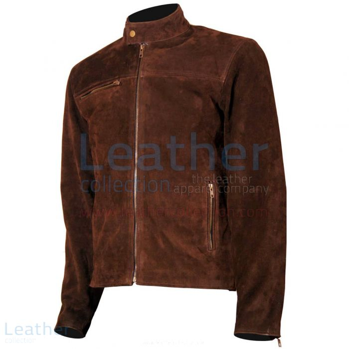 Mission Impossible Tom Cruise Suede Jacket front view
