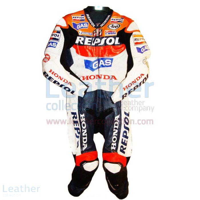 Nicky Hayden Repsol Honda Cuirs GP 2007 Vue de Face