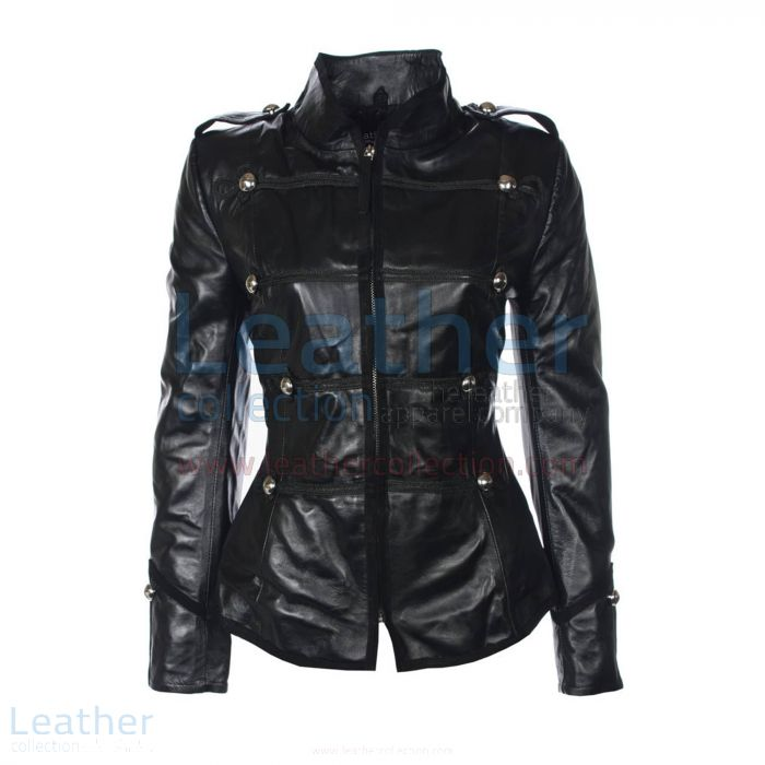Princess Military Leather Jacket front view