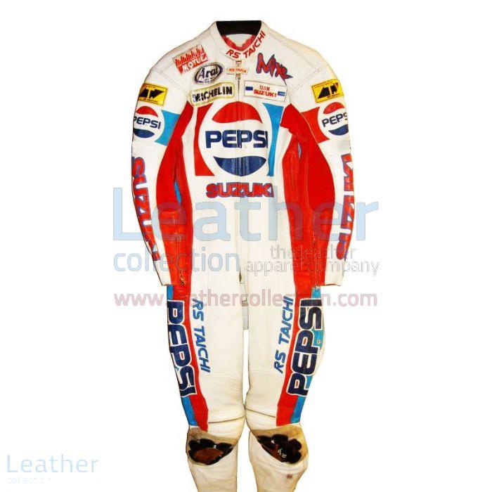 Rob McElnea Pepsi Suzuki GP 1988 Racing Leathers front view