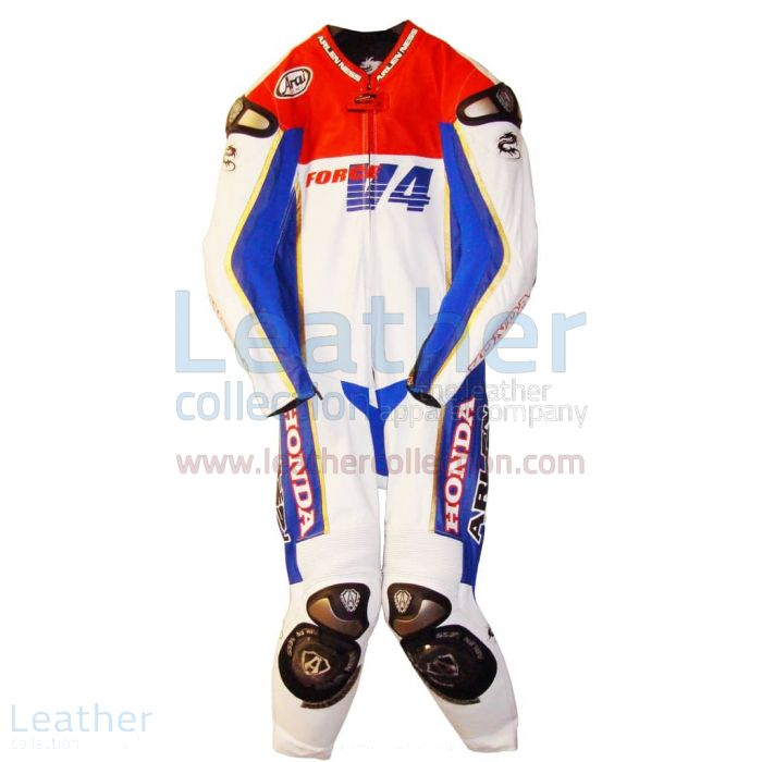 Roger Burnett Honda Goodwood Racing Suit front view