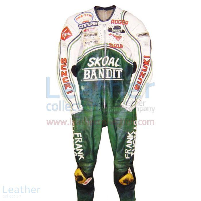 Roger Marshall Suzuki Costume en cuir GP 1987 Vue de Face