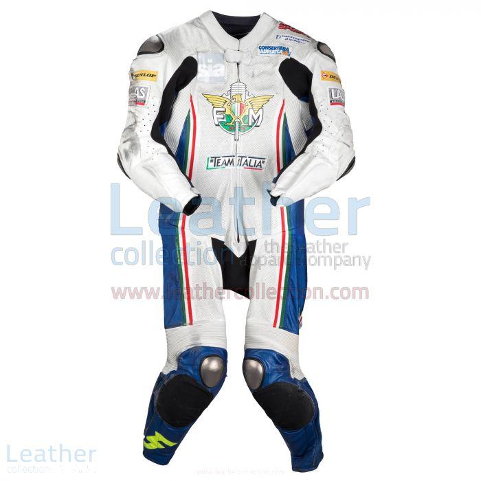 Romano Fenati FIM 2012 Motorcycle Leathers front view