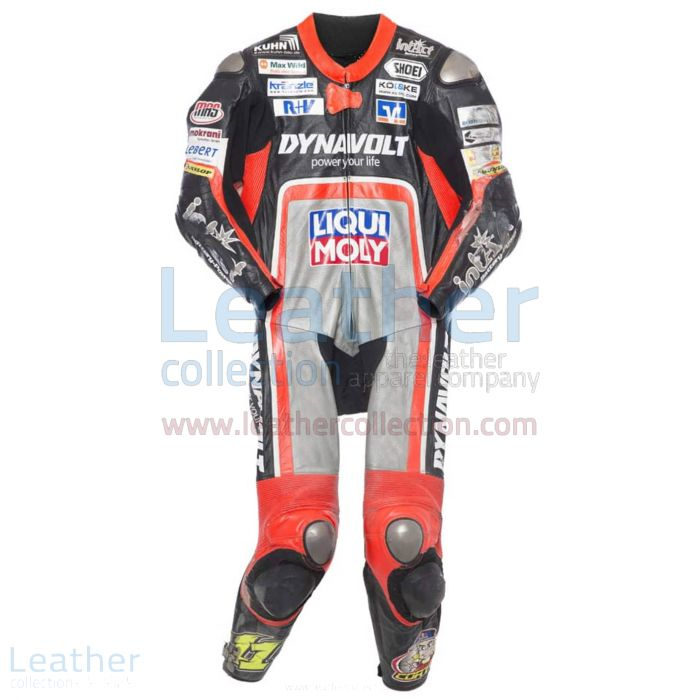 Sandro Cortese 2014 Moto2 Motorrad Lederkombi de face