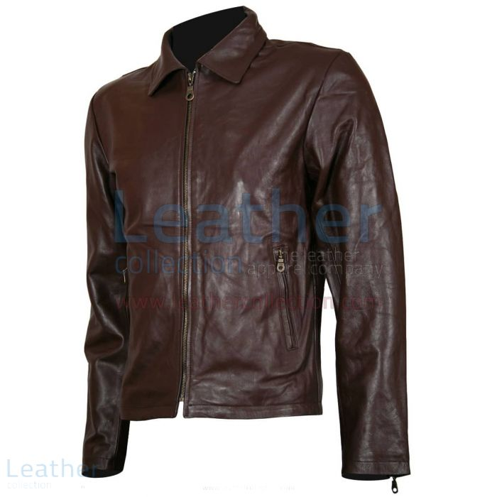 Spartan Robert Scott Leather Jacket front view