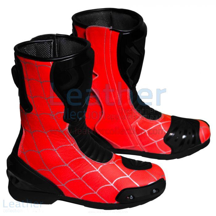 Spiderman Bottes de Moto Vue de Droite
