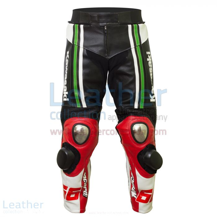 Tom Sykes 2015 SBK Kawasaki Leather Pants front view
