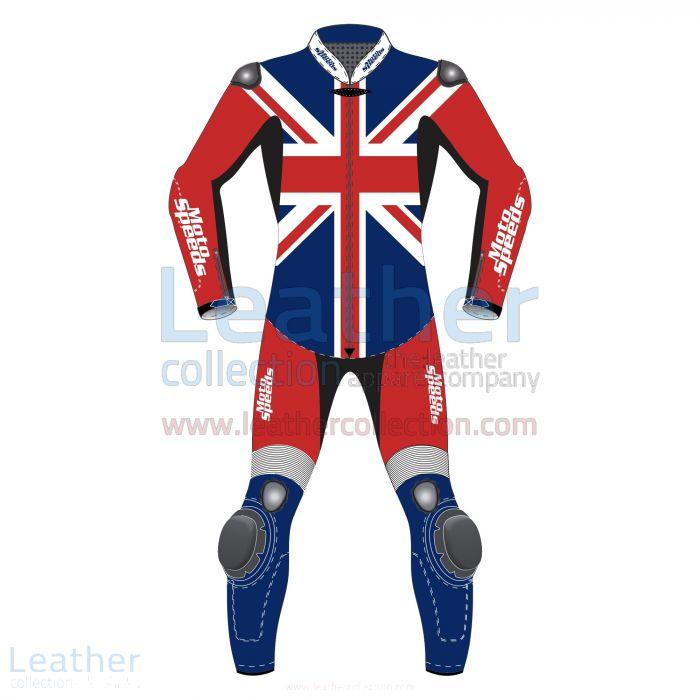 United Kingdom Flagge Motorrad Reitanzug Vorderansicht